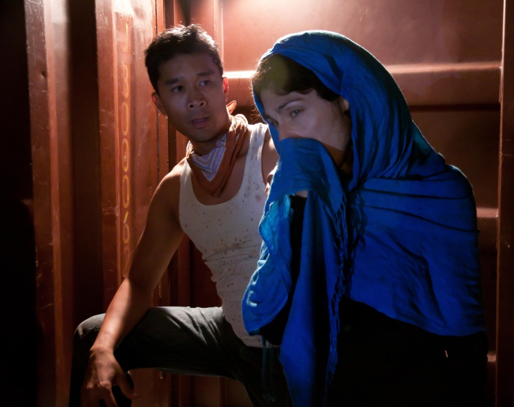 Adriano Sobretodo Jr. & Lara Arabian in The Container. Photo by Lauren Posloski.